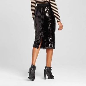 3/$30 NWT Who What Wear Sequin Pencil Skirt Small